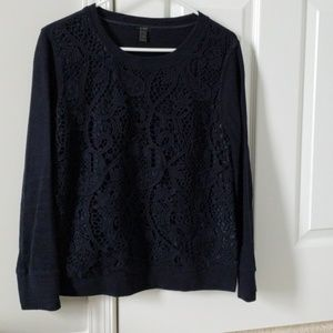 J Crew navy size small sweater